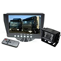7 Color Rear View Backup Camera System with 120° CCD Night Vision, up to 2 Video inputs, 32 ft Cable with Weatherproof 4-Pin Connectors. by YanTech USA