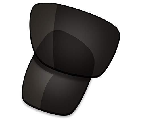 Saucer Premium Replacement Lenses for Oakley Mainlink Sunglasses High Defense - Carbon Black ()