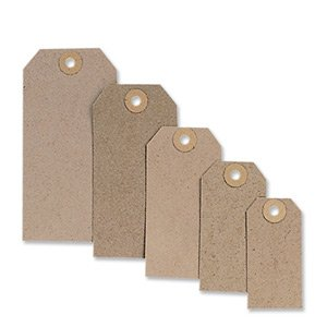 Fisher Clark Tags Unstrung 2A 82x41mm Buff Single Pack of 1000 TG8022