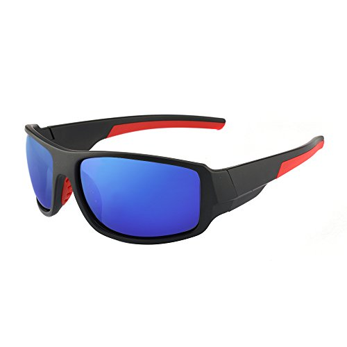 Men's Cycling Outdoor Sports Polarized Sunglasses 100% UV protection Unbreakable TR90 Frame Glasses by JIANGTUN (Image #1)