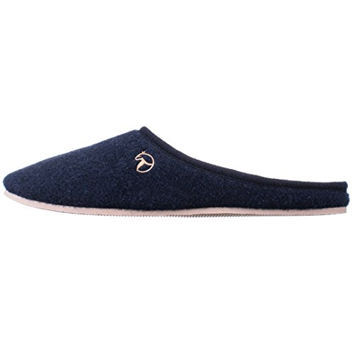 Estro Mens Slippers Men's Men Slipper House Shoes Felt Home Mule REX Darkblue ZyTDOqeEXa