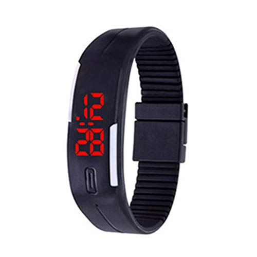 TrifyCore Relojes de pulsera de silicona Reloj de pulsera digital para niños Reloj de pulsera LED Reloj de pulsera de silicona para niños (Negro 1PC): ...