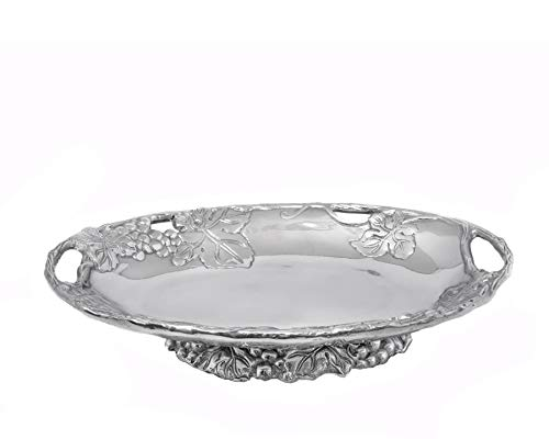 Arthur Court Designs Aluminum Grape Footed Side Dish Server 11 inches long ()
