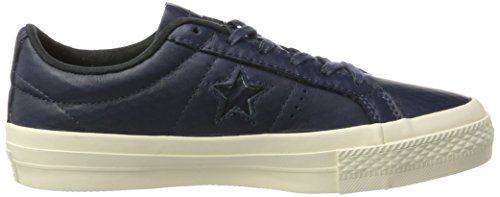 Converse Cons One Star Leather, Sneaker Unisex - Adulto, Blu Scuro, EU 38