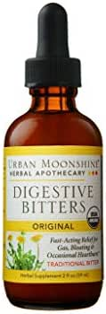 Urban Moonshine Original Digestive Bitters, Traditional Organic Herbal Supplement, 2 FL OZ (Pack of 1)