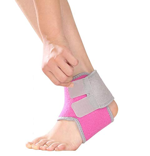 Qchomee Girls Boys Ankle Support Brace Compression Ankle Strap Immobilization Foot Wrap for Sprain Arthritis Pain Relief, Tendon Injury Recovery Re-Injury Protection ()