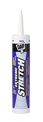 DAP 18715 6 Pack 10.1 oz. Extreme Stretch Premium Crackproof Elastomeric Sealant, White by DAP