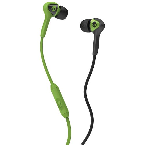 (Skullcandy The Smokin' Buds Earbuds with Mic in Lurker Green & Black)