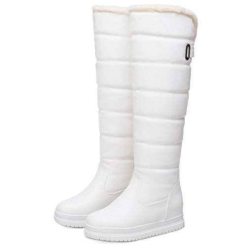 Bottes Fourrure Neige Pluie Blanc Femmes Chaleureux Taoffen Chaudes Chaussures tz0wxqF