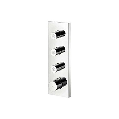 Axor 10751001 Starck, Thermostatic Shower System Trim with  3 Volume Controls in Chrome Hansgrohe
