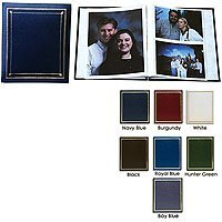 Pioneer Post Bound, Clear Pocket Photo Album with Solid Color Covers, Holds 12-5x7