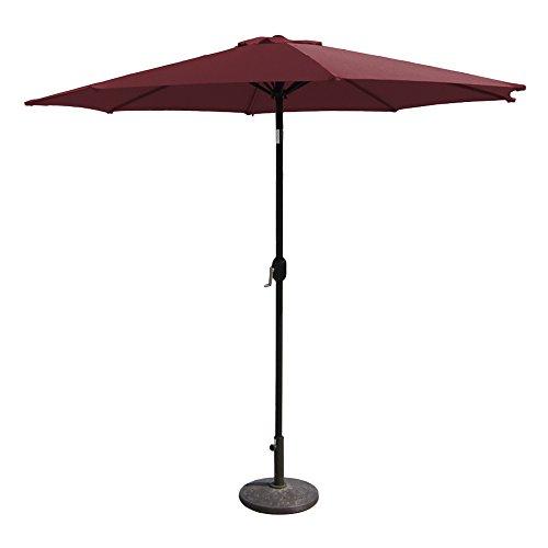 EmpireCovers PATUA2200U 8 Foot High Aluminum Patio Umbrella with 9 Foot Diameter - (Polyester Canopy, Burgundy)