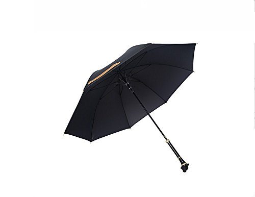 KOOK high-end carbon fiber leopard head handle strong waterproof umbrella by Unknown