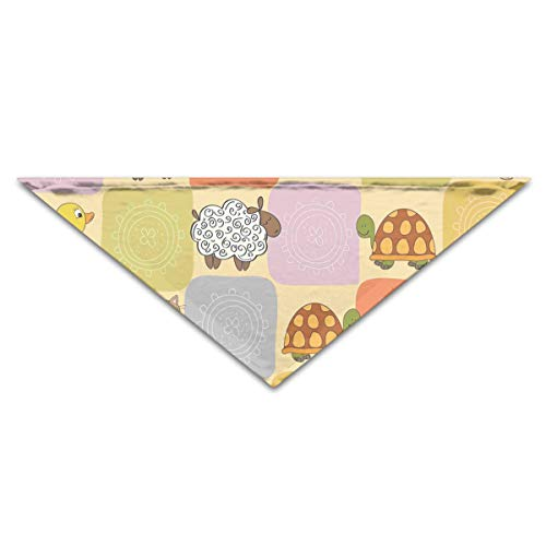 WuliWasw Dog&Cat Bandana Toys and Animals in A Checkered Breathable Pet Cat Dog Triangle Scarf by WuliWasw