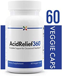 Stop Aging Now - AcidRelief360 Formula with GutGard - Complete Support for Occasional Heartburn - 60 Veggie Caps by Stop Aging Now