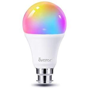 Smart Bulb, Avatar Controls Alexa Light Bulbs B22 Bayonet 8W RGBCW Colour Dimmable Works with Alexa/Google Home, No Hub…