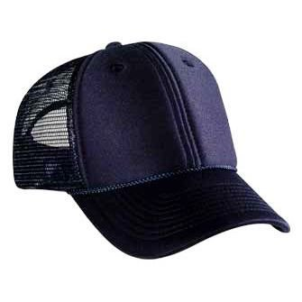 OTTO Polyester Foam Front 6 Panel Low Profile Mesh Back Trucker Hat