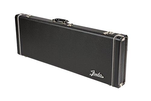 (Fender Deluxe Strat/Tele Case, Black w/ Orange Plush Interior)