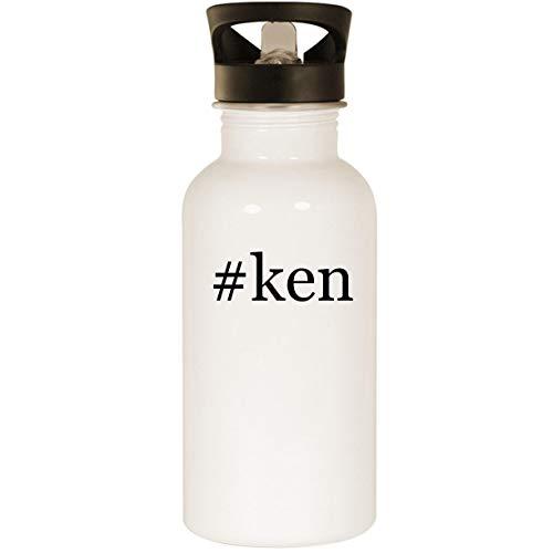 #ken - Stainless Steel Hashtag 20oz Road Ready Water Bottle, White (Ken White Shoes Griffey Jr Black)