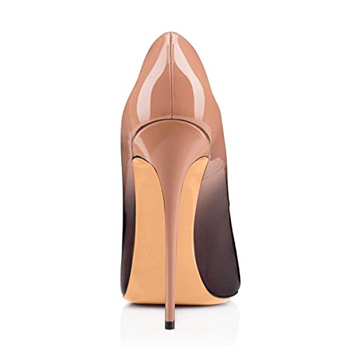 Sky Dress 4 Toe High Sexy Heels Party High Womens Black Pumps Heels Stilettos Beige Peep Eldof FvUwq
