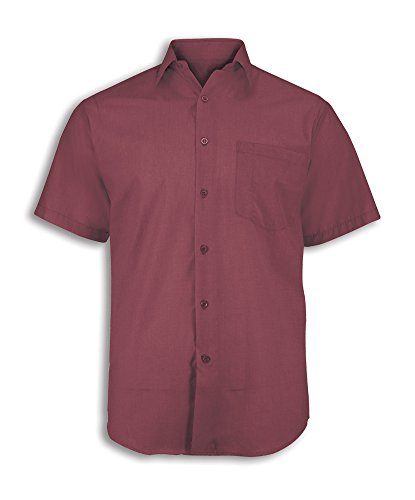 (Alexandra Workwear Unisex Woven Colour Short Sleeved Shirt Ruby 2XL)