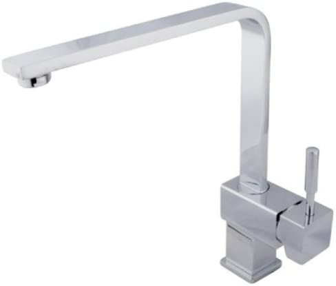 Kingston Brass KS8471DL Concord Square Kitchen Faucet, Polished Chrome, 8-3 4 Spout Reach