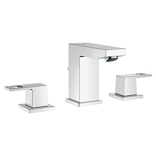 Eurocube S-Size 8 in. Widespread 2-Handle 3-Hole Bathroom Faucet - 1.2 GPM