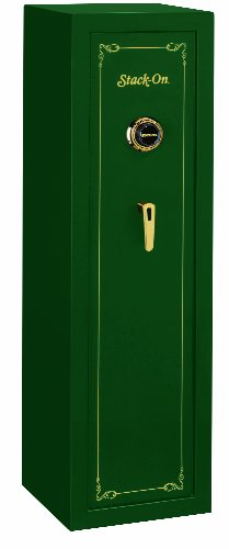 Stack-On SS-10-MG-C 10 Gun Fully Convertible Security Safe with Combination Lock, Matte Hunter Green
