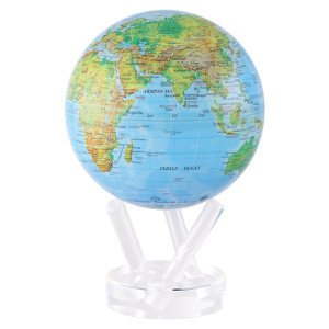 6'' Blue with Relief Map Gloss Finish MOVA Globe by Mova