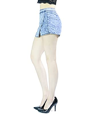 Women's Sexy Chic Mini Short Skirts Asymetrical Over Laping Ham With Zipper