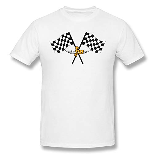 (JAXX9 Men's Checkered Flag Checkerboard Squares Black White T-Shirts Short Sleeve Tees Top White XL)