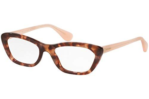 1237fa873d35 Prada PR03QV Eyeglasses 52-18-140 Spotted Brown Pink w Demo Clear Lens