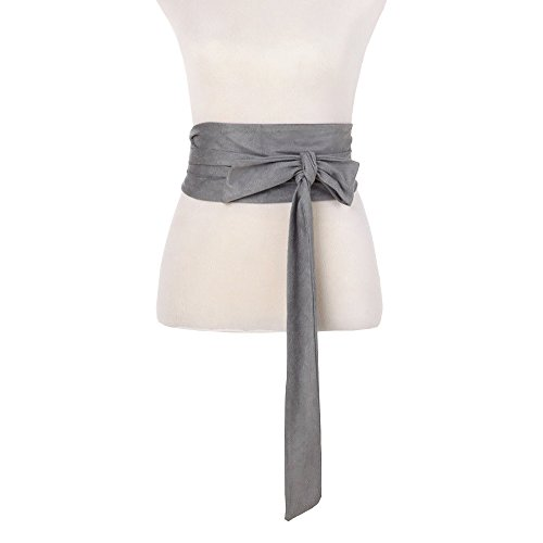 Women Wide Bow Obi Belt Sash Tie Cinch Waist Strap ()