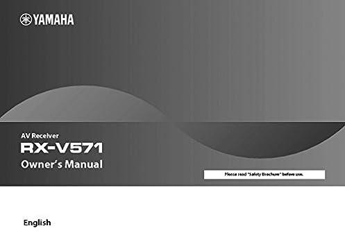 yamaha rx v571 receiver owners manual plastic comb jan 01 1900 rh amazon com