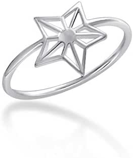Fantom 925 Sterling Silver Shinning Star Design Ring With Matte Finish - Light Weight