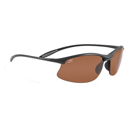 Serengeti Maestrale Polar Sunglasses,Satin Black with Drivers - Women For Serengeti Sunglasses