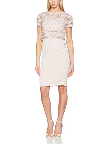 Standard Damen Top Pink and Ballet Gina Bacconi Crepe Primrose Guipure Pink Kleider H1qEYT