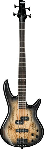 Spalted Maple Natural - Ibanez 4 String Bass Guitar, Right Handed, Gray (GSR200SMNGT)