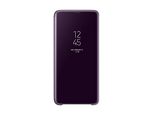 Samsung Galaxy Official Genuine S9 Plus Clear View Standing Cover Case, 6.2 inch for S9+ SM-G965 EF-ZG965CVEGKR, Orchid Gray