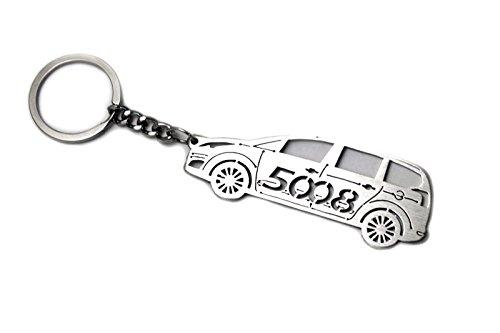 Llavero con anillo para Peugeot 5008 I acero clave colgante ...