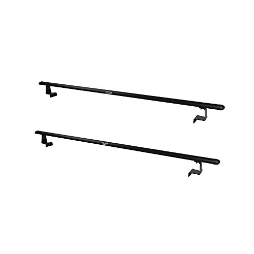 (Durevo Universal Pick-Up Truck Ladder Racks Two Aluminum Bars Length Adjustable from Min 41 Inch to Max 55 Inch Four Brackets Mount Inside The Bed Rails of Roll Up Tonneau)
