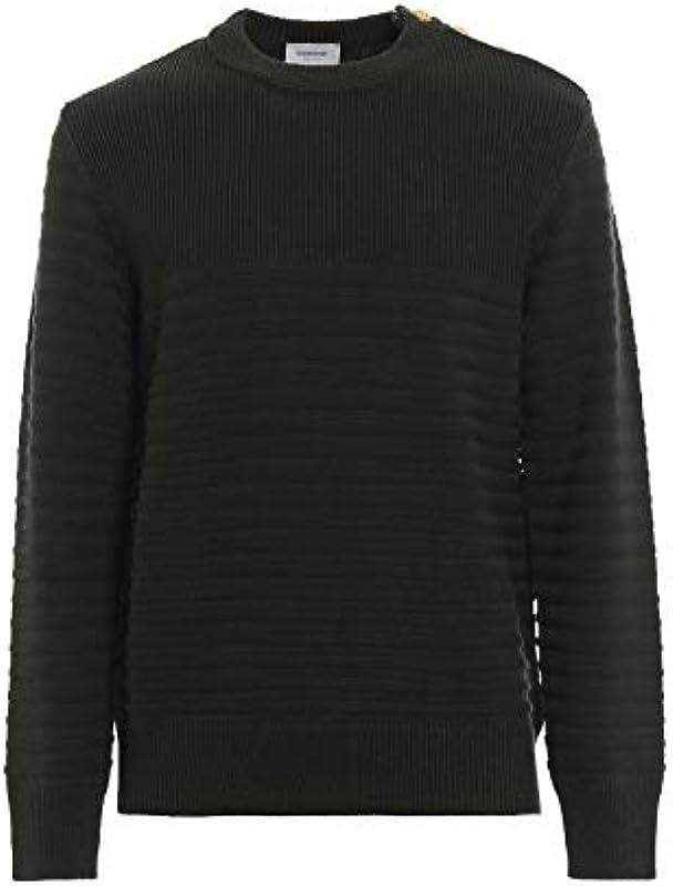 Dondup UM882M00578XXXDU633 Zielona wełna sweter -: DONDUP: Odzież