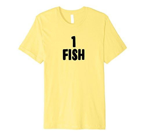 Mens One Fish Group Halloween Costume Premium T-shirt Large (Simple Group Halloween Ideas)