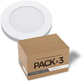 Pack de 3 downlight de superficie 6W LED circular blanco 4000k ...