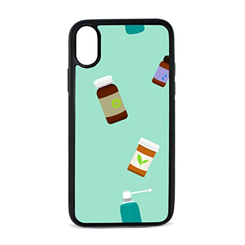 - Spray Bottle Hand-Painted Color Digital Print TPU Pc Pearl Plate Cover Phone Hard Case Cell Phone Accessories Compatible with Protective Apple Iphonex/xs Case 5.8 Inch