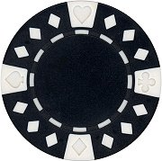 Clay Poker Chips Diamond Composite (25 Clay Composite Diamond Suited 11.5 gram Poker Chips, Black)