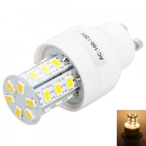 GU10 4W 24LED SMD5730 3000-3500K ZM Warm White Corn Light (100-120V)