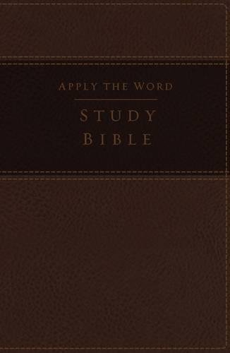 NKJV, Apply the Word Study Bible, Large Print, Imitation Leather, Brown, Indexed, Red Letter Edition: Live in His - Map America Location Mall Of