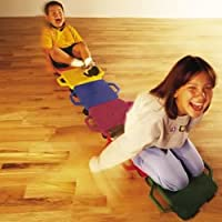 Cosom Scooter Board, 12 Inch Children's Sit & Scoot Board With 2 Inch Non-Marring Nylon Casters & Safety Guards for…