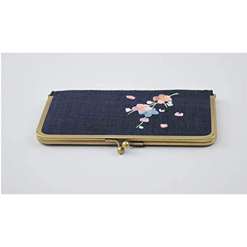 04 de Prune d'argent Color Broderie Tissu des 01 de de Femmes Tsutou Sac wqP1xZ1F